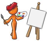 Design Mascot Woman Painter poster