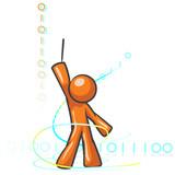 Design Mascot Binary Composition poster