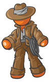 Design Mascot Adventurer poster