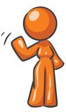 Design Mascot Woman Waving poster