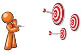 Design Mascot Aiming Multiple Targets poster