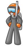Design mascot Diver poster
