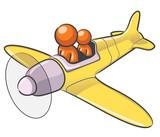 Design Mascot Airplane poster