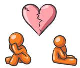 Design Mascot Broken Heart poster