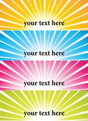 Sunburst vector banners