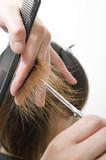 Fototapety 髪を切られる日本人女性