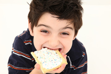 Pop Tart Boy Laughing and Eating