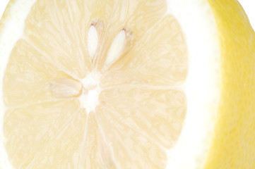 Lemon With Seeds and Rind Close Up