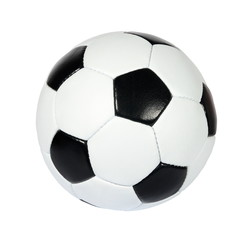 black and white soccer ball on a white background. (isolated)
