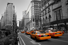 "Постер, картина, фотообои ""Taxies in Manhattan"""