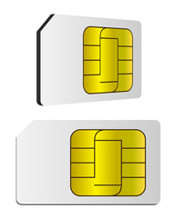 vector illustration of cell phone sim cards