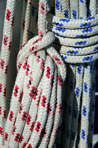Blue and Red Ropes