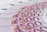the some euro banknotes