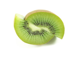 Kiwi fruit on isolated background.