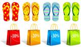 Letní nákupy ikony