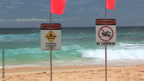 poster of Warning Strong Current, No Swimming, Sandy Beach, Oahu