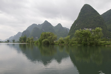 Yulong river scenery in Yangshuo