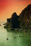 Fototapety Sunset on Halong Bay, Vietnam