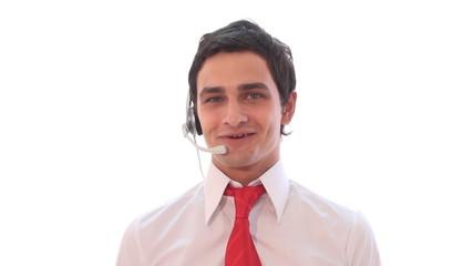 male customer service representative