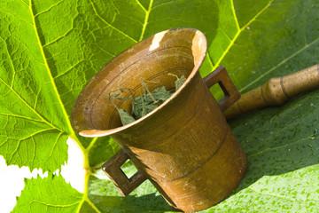 herbal and antiquarian mortar
