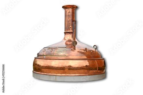 Freigestellter Braukessel / Kupferkessel / boiler - 15256666