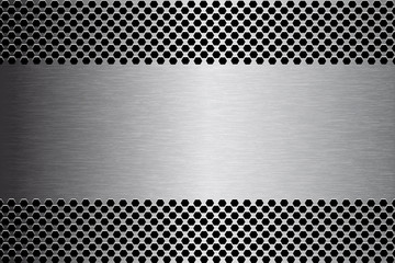 Brushed Metal Texture Banner
