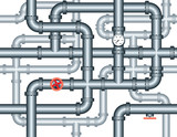seamless maze of plumbing pipes poster