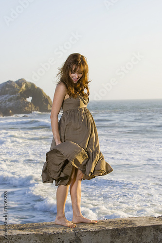 wind blowing up dress
