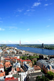 Panorama view of Riga, capital of Latvia poster