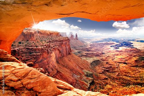 Leinwanddruck Bild Heavenly view of world