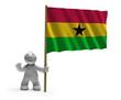 Постер, плакат: ghana Flagge flag