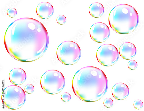 Vector of colored soap bubbles - 15266032