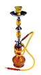 Yellow Hookah on a white background. (isolated)