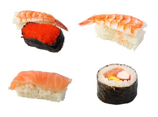 sushi on a white background.  (isolated)
