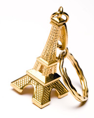 eiffel tower souvenir key chain