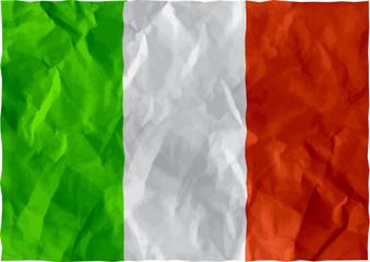 Italian flag of crumpled paper