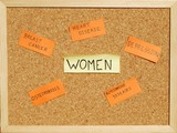 concept with post it notes about women's health