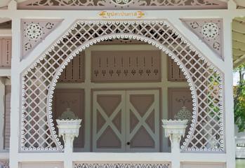 Thai style veranda in Bangpa-in palace, Thailand