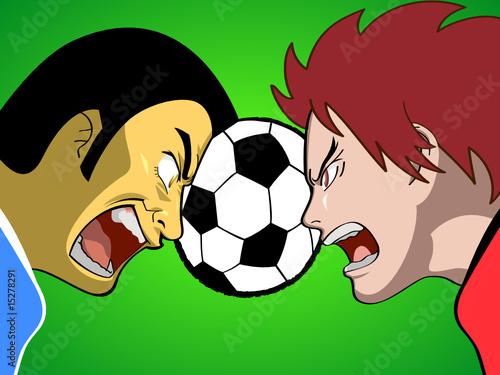 Cartoon soccer (or football)