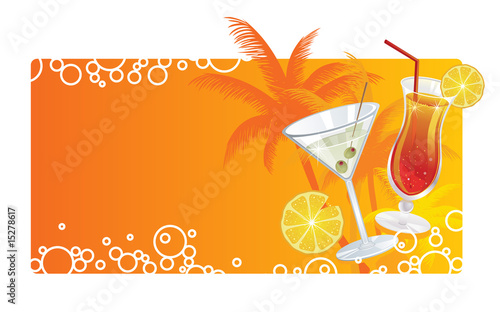 Summer cocktails banner