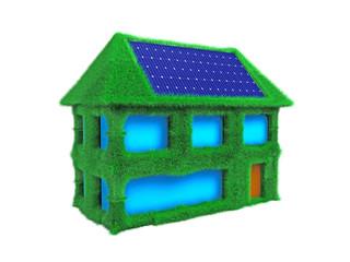 Solarhaus aus Gras