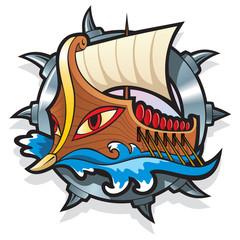 Argo, the legendary ship in Greek mythology, vector