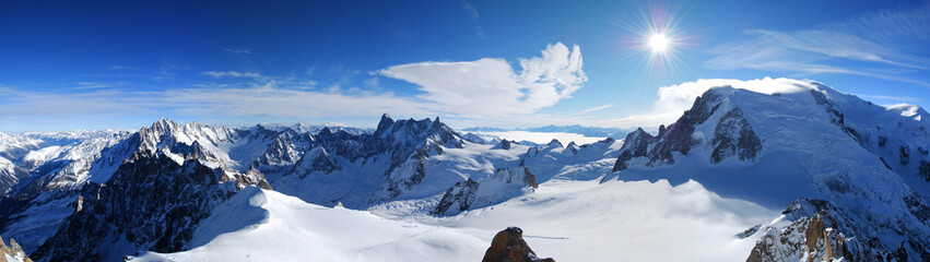 Mont Blanc & Mer de Glace von der Aiguille du Midi