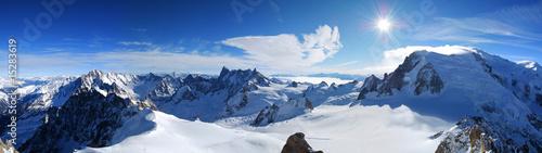 Deurstickers Alpen Mont Blanc & Mer de Glace von der Aiguille du Midi