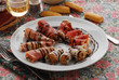 Salumi ai formaggi caprini e aceto balsamico - Antepasti