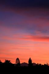 tramonto sulle prealpi comasche