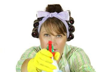 Frumpy Housewife Takes Aim