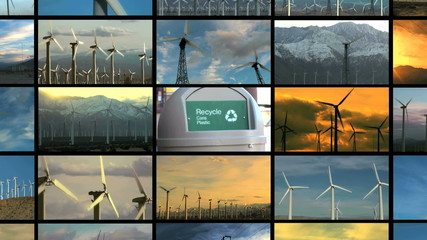 Renewable energy screens zoom in to recycle bin - HD