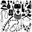 collection of women accessories vector 3