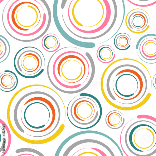 Fototapeta circles seamless pattern